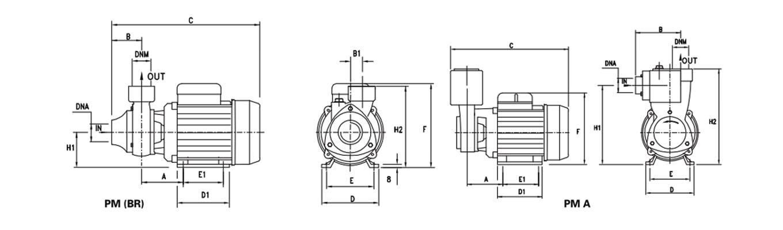 ابعاد پنتاکس PM45 و PM80